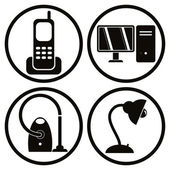 Household appliances icons set 1. — Stock Vector
