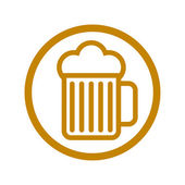 Beer glass icon. — Stock Vector