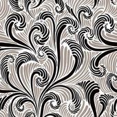 Modèle seamless floral monochrome. — Vecteur