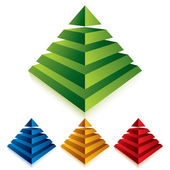 Pyramid icon isolated on white background. — Stock Vector