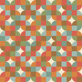 Seamless mosaic tiles pattern in retro style. — Stock Vector