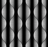 Black and white lines seamless pattern. — ストックベクタ