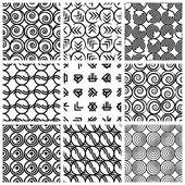 Seamless geometric patterns set 4. — Stock Vector