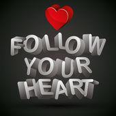 跟随你的心. — 图库矢量图片