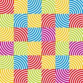 Optical geometric simplistic seamless pattern. — Stock Vector