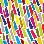 Colorful paper cuts seamless pattern. — Stock Vector