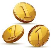 Coin icon set isolated. — Stockvektor