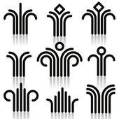 Abstract symbols set. — Vector de stock
