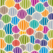 Color spheres seamless pattern. — Stock Vector
