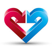 Heart made with 2 arrows. — Vettoriale Stock