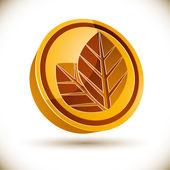 Autumn leaves icon. — Stockvector