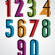 Постер, плакат: Retro numbers bold condensed numerals set