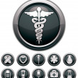 Medical icons set. — Vettoriale Stock  #51685427