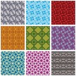 Seamless geometric patterns set 2. — Wektor stockowy  #51686387