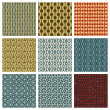 Vintage style aged seamless tiles patterns set with grungy dirt  — Vector de stock  #51686767