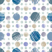 Sketch dots seamless pattern. — Stock Vector