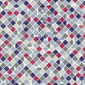 Abstract mosaic seamless background, vector geometric seamless p — Stockvektor