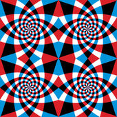 Spiral red and blue whirls seamless pattern. — Stock Vector