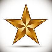 Golden star vector. — Stockvektor