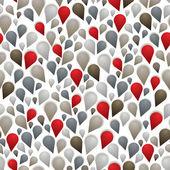 Resumen de colorido gotas de patrones sin fisuras. — Vector de stock