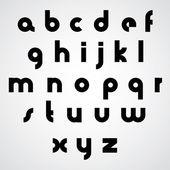 Vector alphabet, modern style simplistic font. — Stock Vector