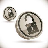 Lock 3d icon. — Stock Vector