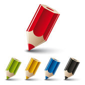 Conjunto de iconos de vector de lápiz. — Vector de stock