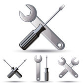 3d icon-set reparieren. — Stockvektor