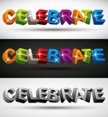 Celebrar. — Vector de stock