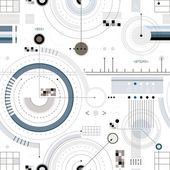 Engineering ontwerp naadloze patroon. — Stockvector