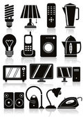 Household appliances icons set. — Stock Vector