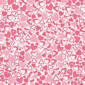 Romantické srdce růžové pozadí, že různé srdce bezešvé tv — Stock vektor