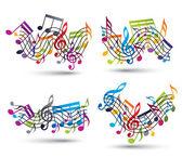 Notas musicais set pessoal. — Vetorial Stock