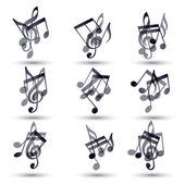 Set of musical notes icons. — Stock Vector