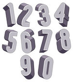 3d sada čísel. — Stock vektor