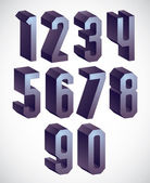 3d geometric numbers set. — Stock Vector