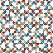 Abstract colorful circle shape tiles seamless pattern. — Stockvektor
