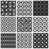 Seamless geometric patterns set 3. — Stock Vector