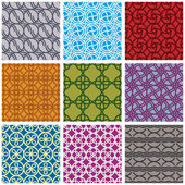 Seamless geometric patterns set 2. — Stock Vector