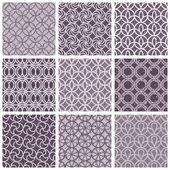 Monochrome violet vintage style tiles. — Stock Vector