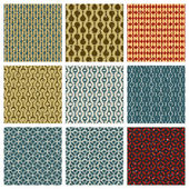 Vintage style aged seamless tiles patterns set with grungy dirt  — Vecteur