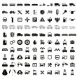 100 car and transport icons. — Stock Vector #51739043