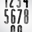 Tall poster headline numbers with halftone lines print texture. — Stock Vector #51739253