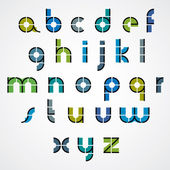 Geometric style letters alphabet. — Stock Vector