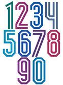 Double line geometric numbers. — Stock Vector