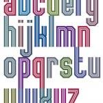 ������, ������: Retro stripe geometric font retro style typeface made with stra