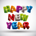 Happy new year, color version. — Stock Vector #51743875