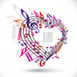 I love music template in red pink and violet colors. — Stock Vector #51744835