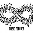 Forever music concept. — Stock Vector #51744979
