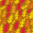 Fall oak leaves seamless pattern, vector background. — Stock Vector #51745937